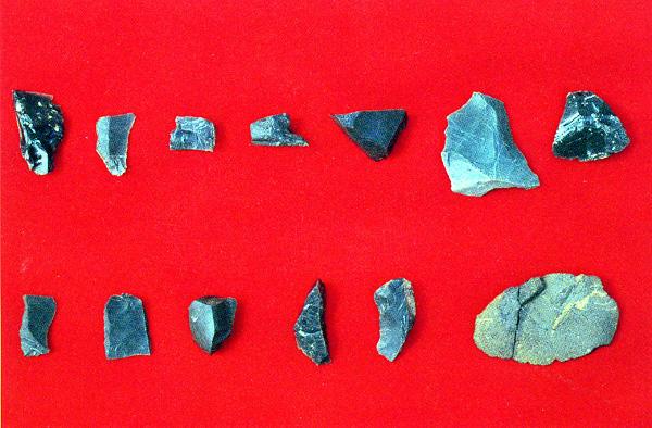 坊荒句遺跡出土の旧石器