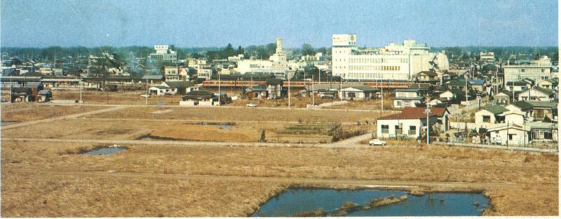 昭和46年頃市庁舎より春日部駅方面