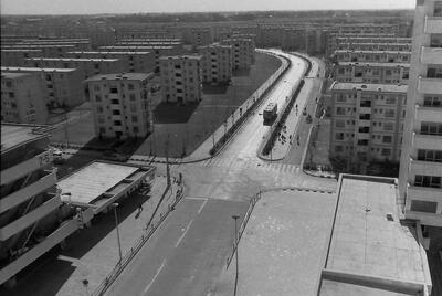 武里団地7街区(10階建て)から南の風景(1969年)