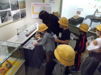 藤塚小学校スタンプ体験写真