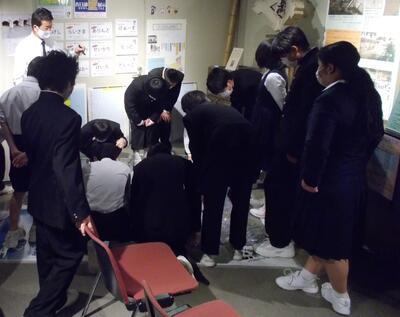 武里中学校航空写真見学写真