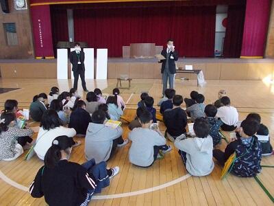 八木崎小学校出張授業風景