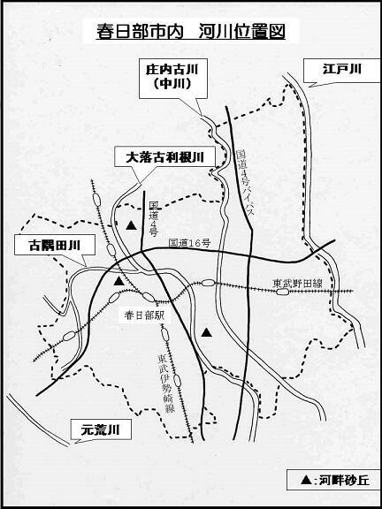 春日部市内の河川略図