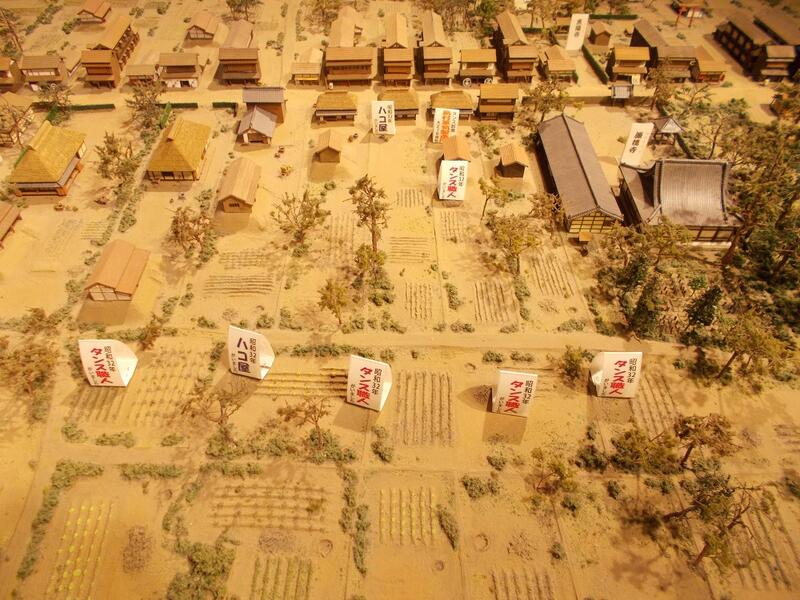 写真:粕壁宿の模型