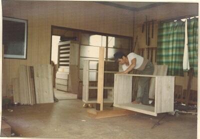 写真:箪笥の枠組み