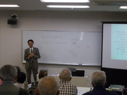 写真:講演される三木先生
