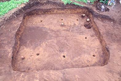 尾ヶ崎遺跡の古墳時代前期の住居跡