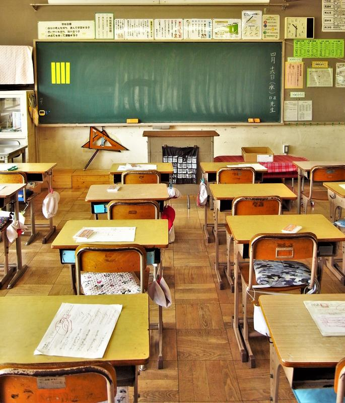 バーチャル背景 教室