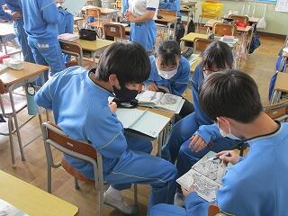 2年3組 学活 校外学習最終確認