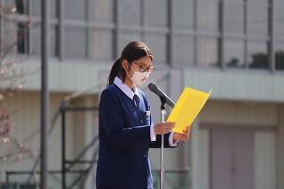 2年生代表生徒による発表