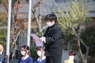5、6組代表生徒による発表