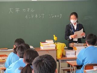 1年3組 英語 授業開き