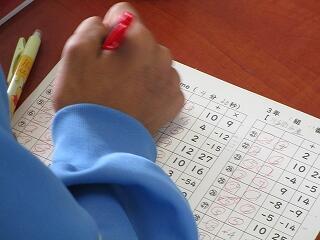 3年2組 数学 因数分解 和と積の組み合わせを徹底的に練習します