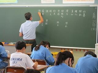 3年1組 国語 授業のはじめはいつも小テストから 今日は漢字