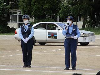 春日部警察署の方から交通事故・交通安全についてのお話しをいただきました