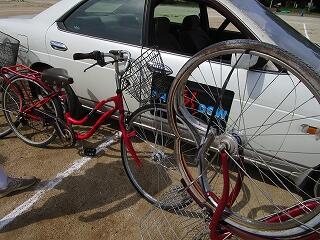 固い自転車がこのような状態に…人間だったら
