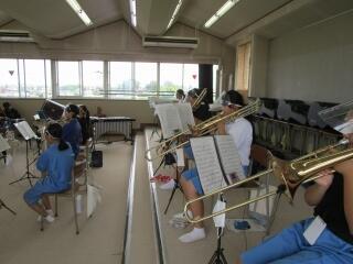 吹奏楽部 コンクールに向けて仕上げの時期ですね