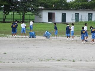 サッカー部 明日は本校で練習試合です