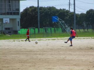 サッカー部 紅白戦を行っていました