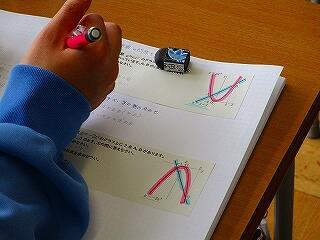 3年2組 数学 二次関数のグラフの応用問題