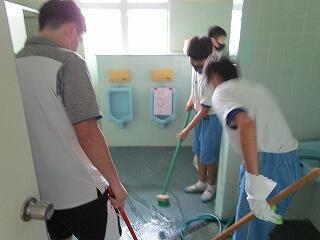 2年3組 トイレ掃除