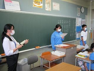 教育実習生による国語科研究授業