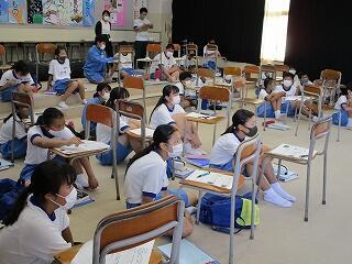 生徒もよく集中しています
