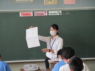 2年3組 教育実習生による英語の研究授業