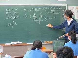 3年3組 数学 二次方程式の利用