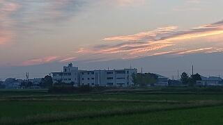 朝の学校周辺の風景