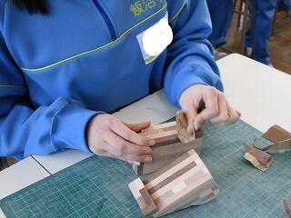 2年1組 美術 寄木細工