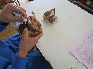 2年3組 美術 寄木細工づくり